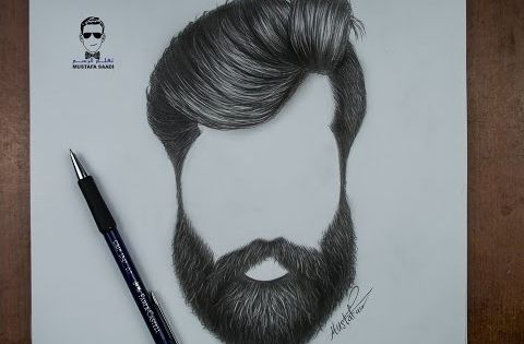 كيفية رسم اللحية والشارب للرجل بالرصاص How To Draw A Beards Youtube How To Draw Hair Beard Drawing Realistic Hair Drawing