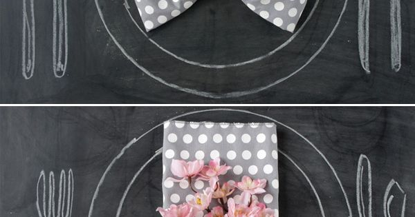 A BOW!! napkin folding ideas