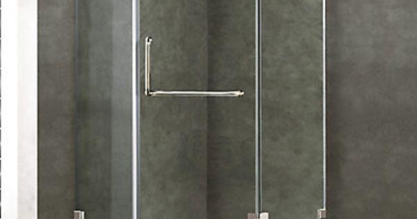 Cette incroyable cabine de douche n o angulaire compacte for Porte de douche sans cadre