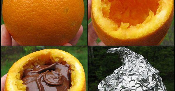 Campfire Brownies in an orange: at least 1 orange per camper, Brownie