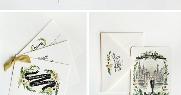 Rifle Paper Co. wedding suite wedding invitation