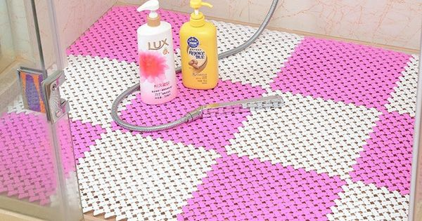 25 X 25cm Candy Color Pe Massage Skid Bath Bathroom Bedroom Floor Mat Shower Rug Non Slip Diy Review Shower Floor Mat Shower Mat Shower Floor