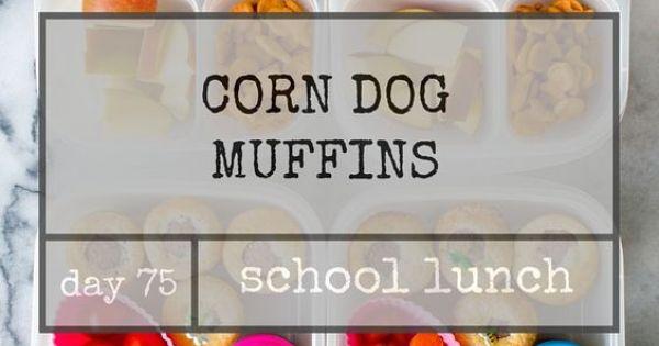 ... 75: Corn Dog Muffins | Corn Dog Muffins, Corn Dogs and School Lunch