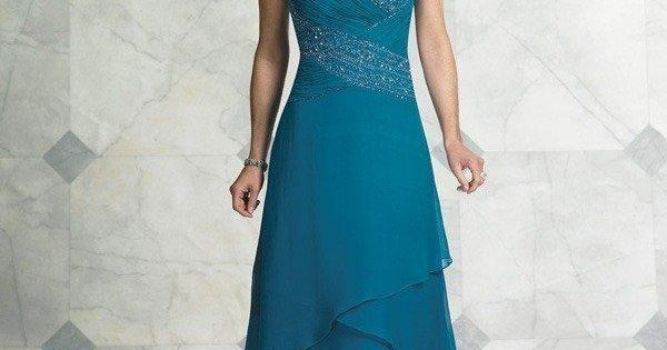 Cheap Teal Blue Tea Length Mother Of The Bride Dresses For