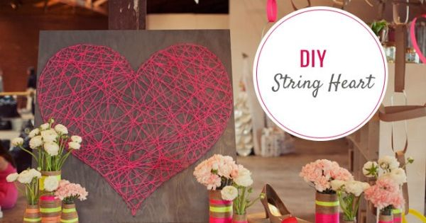 DIY String Art Tutorial From Green Wedding Shoes