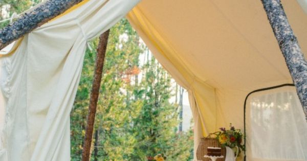 Montana elopement outdoor dinner in a wall tent cayenne for Wall tent idaho