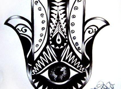 Hamsa Tattoo Design by Ninaschee on deviantART