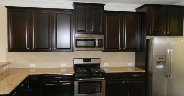 espresso kitchen cabinets with granite scottsdale maple square espresso cabinets new venetian 8877