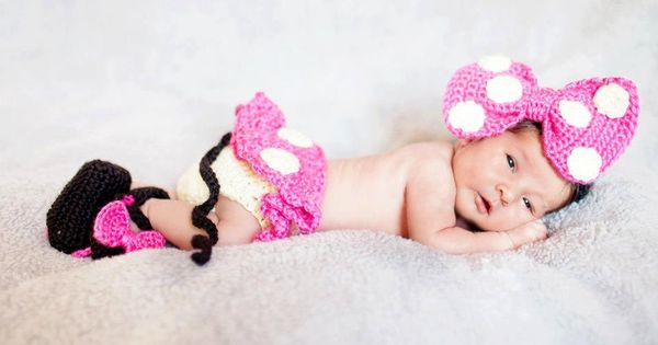 Exclusive Line Disney Inspired Crochet Newborn Minnie