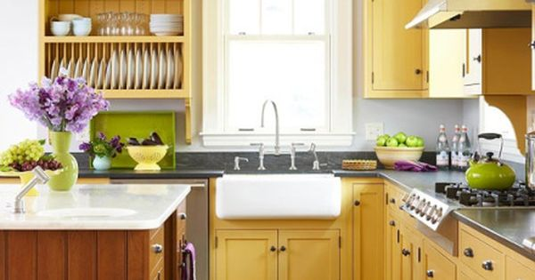 Decorating With Color Yellow Yellow Kitchen Cabinets