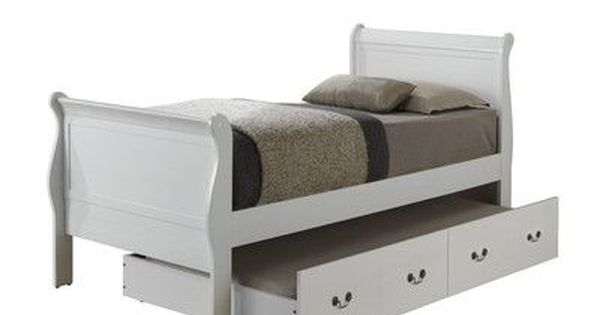 Lark Manor Corbeil Sleigh Bed With Trundle With Images Trundle Bed Twin Trundle Bed Sleigh Beds