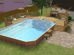 The Sims 4 Community Lot Ideas Google Search Backyard Pool Above Ground Pool Decks Swimming Pool Landscaping