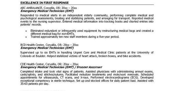 Emt B Resume Examples Resume Templates Professional Resume Samples Sample Resume Cover Letter Cv Resume Sample