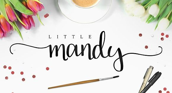 Little Mandy – a calligraphic font used in coloring book Mini Mandalas