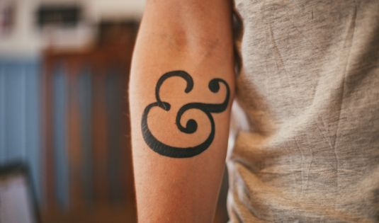 Rick Nunn's ampersand tattoo - if I got a tattoo it would