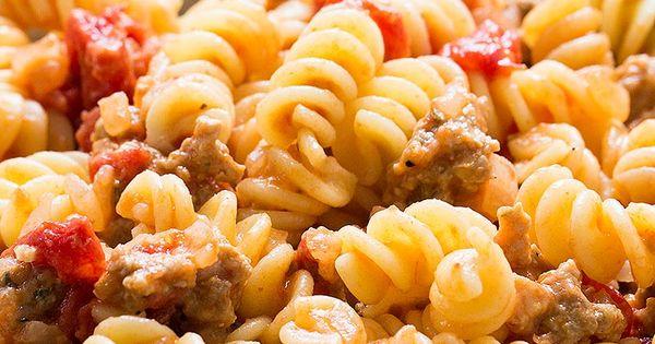 Pasta with Turkey Sausage and Smoked Mozzarella | Recipe | Turkey ...