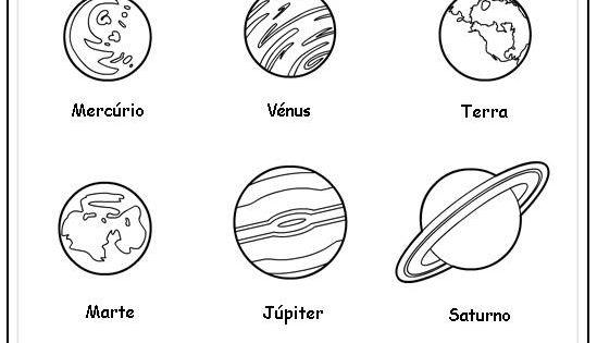 Planetas Desenhos Para Colorir Com Imagens Planetas