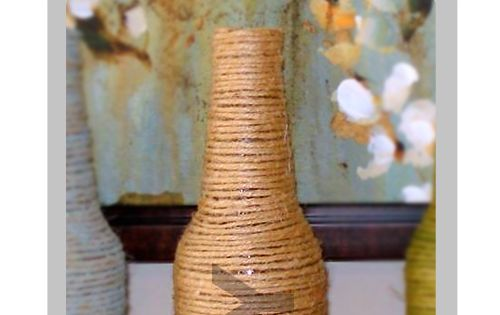 Wine and Beer Bottle Vases * i need more creative ideas like