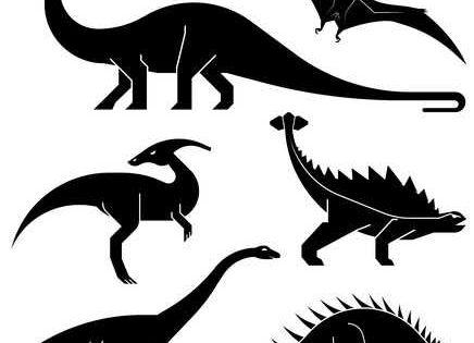 Verschiedene Arten Von Prahistorischen Dinosaurier Symbole Brontosaurus Diplodocus Apatosaurus Velociraptor Parasaurolophus Polacanthus Flugsaurier Vekt Flugsaurier Illustration Dinosaurier