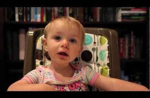 Dad interrogates his baby girl about who her favorite parent is...Hilarious.