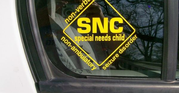 Special Needs Child Car Window Sticker Must Get This For