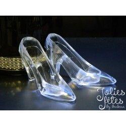 Boite à dragées chaussure de cendrillon pour mariage
