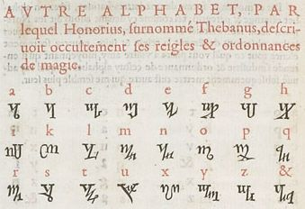 Theban Alphabet Sometimes Called The Runes Of Honorius