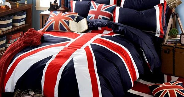 british american drapeau ensemble de literie housse de. Black Bedroom Furniture Sets. Home Design Ideas