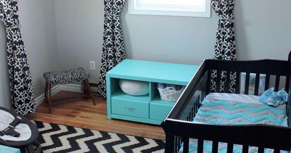 Baby boy nursery idea... love the colors!