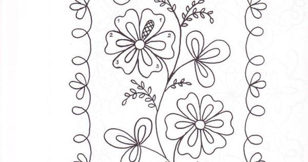 Pin Do A Mariana Matias Em Desenhos Para Pintar: Flowers With Border