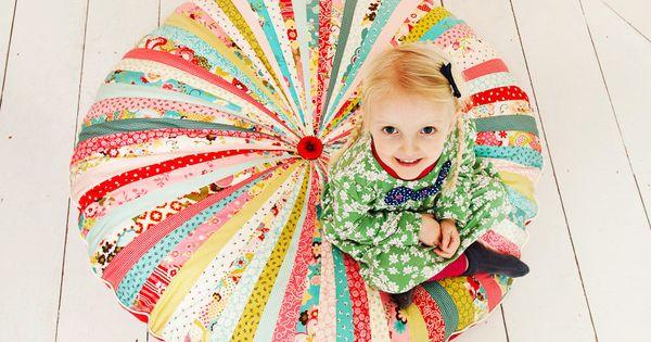Large Pinwheel Floor Cushion handmade do it yourself diy decorating ideas hand