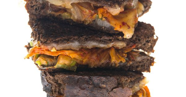 Kimchi Gruyere and Green Onion Grilled Cheese | Kimchi, Green Onions ...