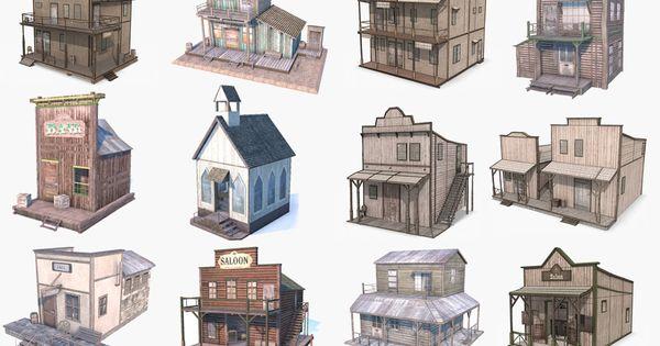 3d Western Buildings Buildings Pinterest Westerns