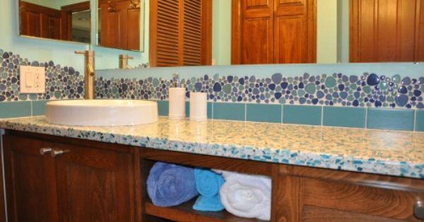 Bubble Tile Border Bathroom Design Ideas Pinterest
