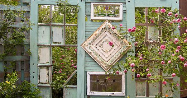 Old Salvaged Windows... Garden idea!!!
