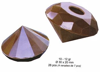 Polycarbonate Chocolate Mold Geodesic Dome 30mm Diam x 20mm High 40 Cavities