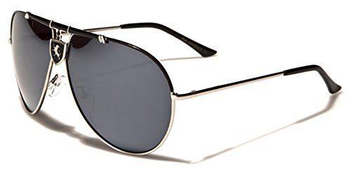 Khan Retro 80/'s Men/'s Square Fashion Sunglasses Color Mirrored Lens Black White