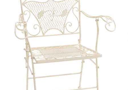 Nostalgie Gartensessel Stuhl Sessel Eisen Klappstuhl Antik Stil