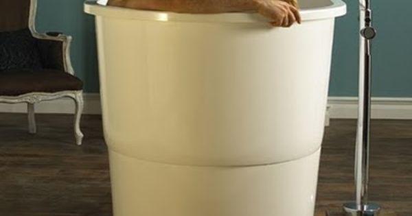 Small Circular Japanese Ofuro Japanese Sit Bath Tub