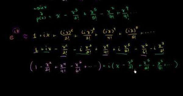 Euler S Formula And Euler S Identity Identity Formula Khan Academy