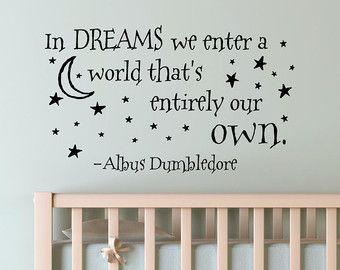 Dans Les Reves Nous Entrons Dans Un Monde Qui Est Tout A Fait Notre Propre Mur Aut Maternelle De Harry Potter Chambre A Theme Harry Potter Idee Peinture Maison