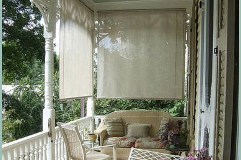 Porch Blinds Front Porches Porch And Wicker Furniture
