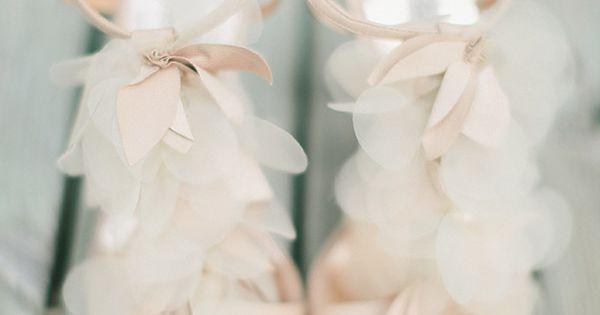 Pale Pink Petaled Heels by Badgley Mischka // flutter