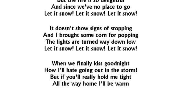 CHRISTMAS SONGS - LET IT SNOW LYRICS