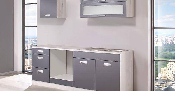 HELD MÖBEL Küchenzeile ohne E-Geräte »Fulda, Breite 210 cm« Jetzt - küchenblock ohne e geräte