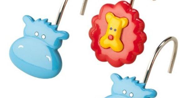 Hippo Shower Hooks 10 00 Kids Bath Shower Curtain Hooks