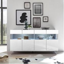 Lc Sideboard Glamour In 2020 Sideboard Weiss Hochglanz