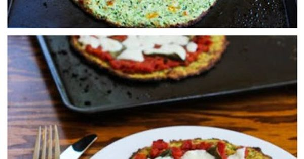 Low-Carb Zucchini Crust Vegetarian Pizza Margherita - On ...