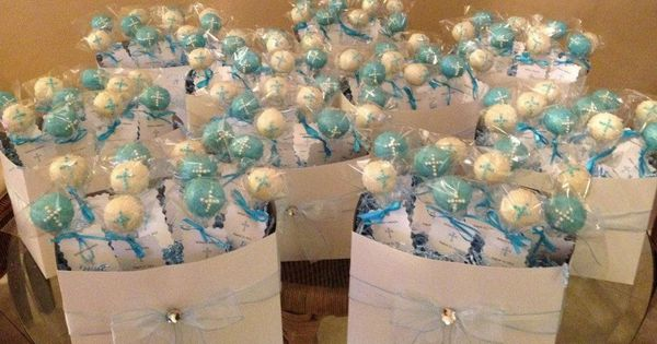 Cake pop centerpiece baptism pops and on