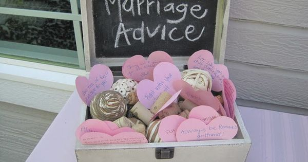 Marriage advice box.- looking back I should have had one of these